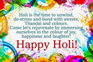 Wishes for Friends 2016 Holi