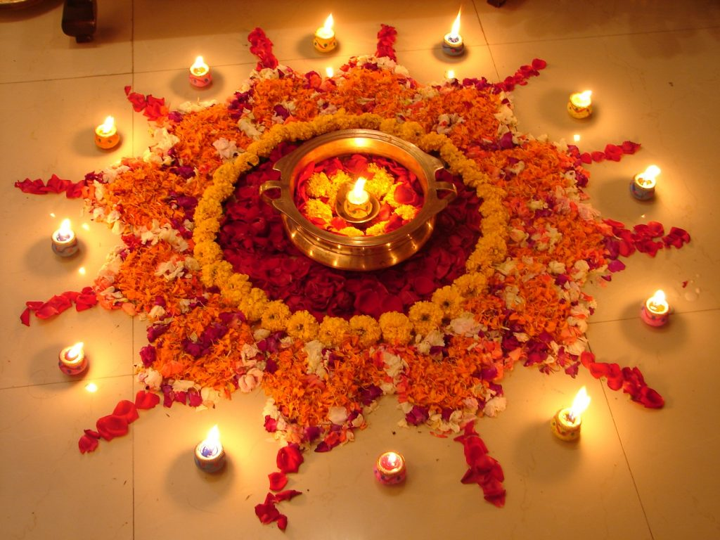 Origin of Diwali Rangoli